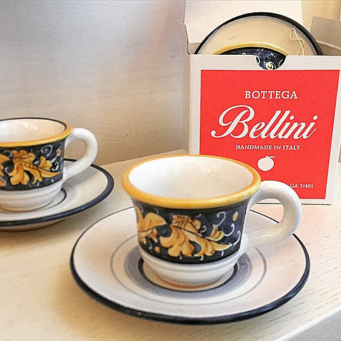 Espresso Cup and Saucer (RL Blue/Gold)