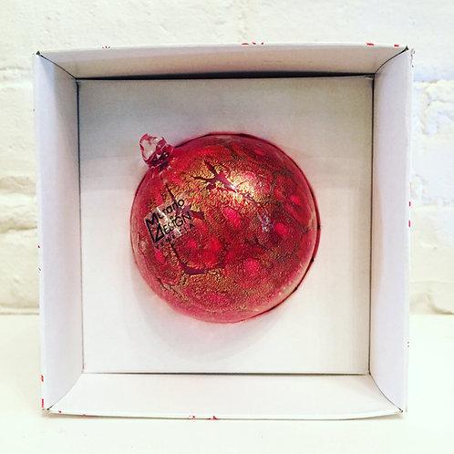 """Murrina in Tinta"" Ball Ornament (Amber)"