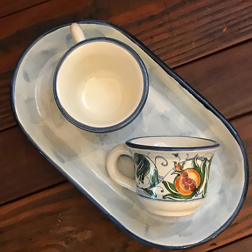 Espresso Cup Set (Blue & Gold)