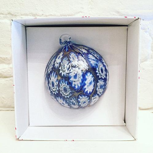 """Murrina in Tinta"" Ball Ornament (Blue)"