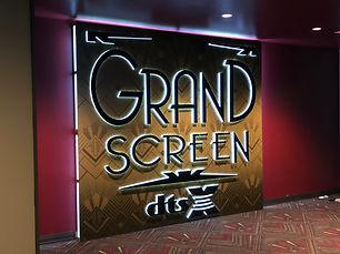 Grand Screen Lit Sign