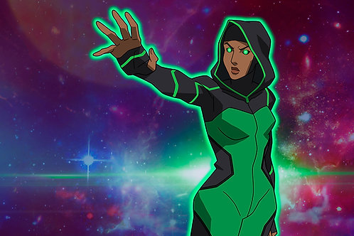 Autographed Print: Halo from Young Justice
