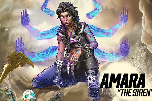 Autographed Print: Amara from Borderlands 3