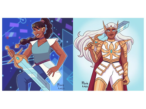 Autographed Print: Mara from She-Ra and the Princesses of Power
