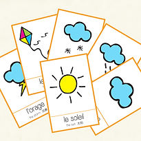 Flashcards to learn the weather in French! Created by French-smile