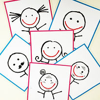 Flashcards famille for learning French FLE FFL. Created by French-smile.