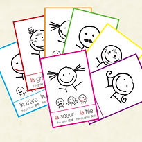 jeu de 7 famille learn French. FLE FFL. Created by French-smile.