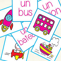 Learn the means of transport in french. FLE FFL. Created by French-smile.