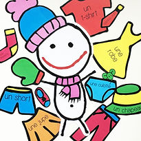 Flashcards about clothes for learning French FLE FFL. Created by French-smile