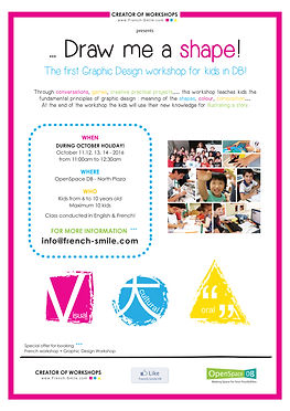 The first Graphic Design Workshop for kids in Discovery bay!