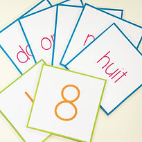 Memory for learning French numbers from 1 to 12 FLE FFL
