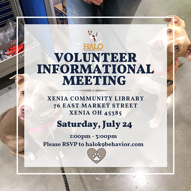 HALO Volunteer Informational Meeting & Orientation