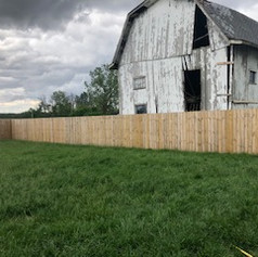 Small privacy fence yard