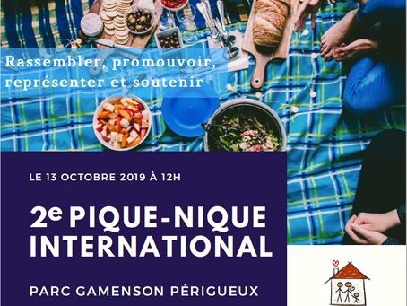 SAVE THE DATE - 13 oct 2019 >> 2e Pique-Nique International & Rencontres