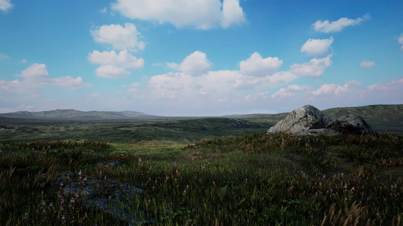 UE4 Level Design Moorlands Grasslands Pack