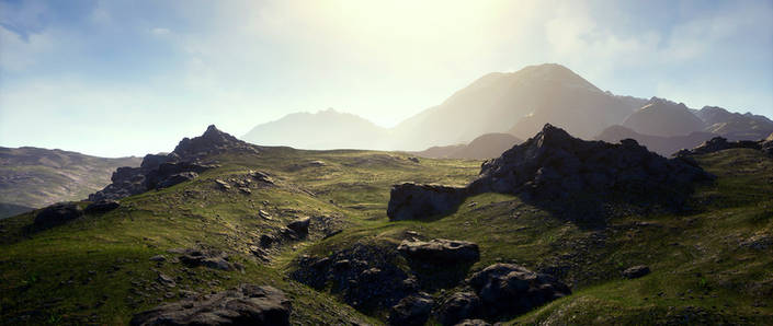 UE4 Level Design Grasslands Pack