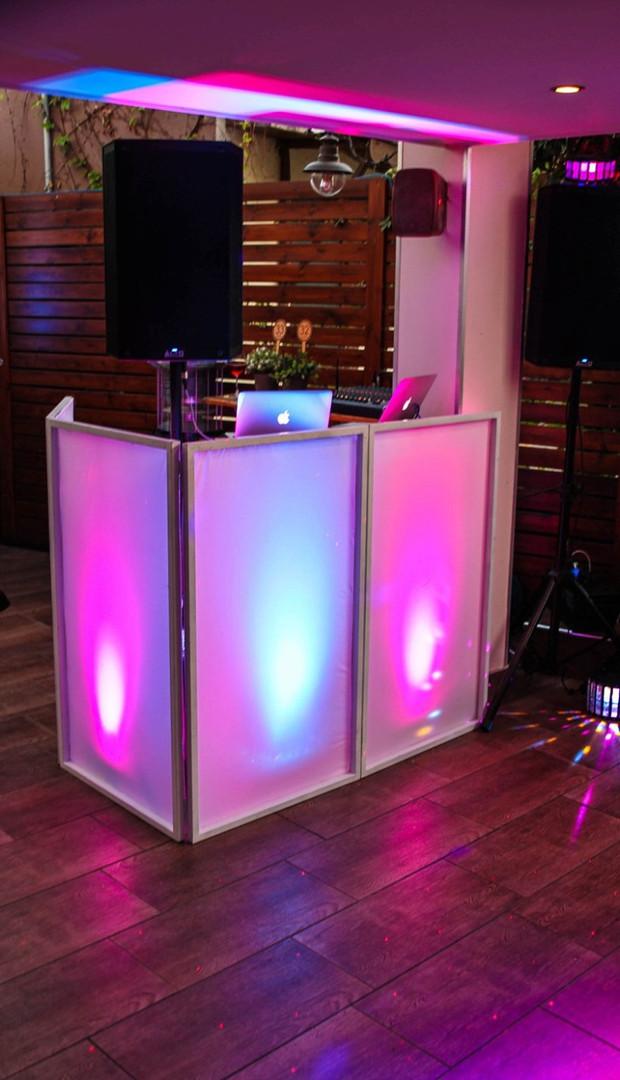 Gorilla Street DJ Set Up & LED Uplighting