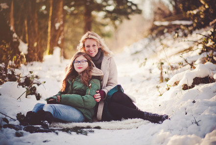 Rose City Golf Course, Mount Hood, Snow, Mother Daughter, Portland Photography, Winter photography, fine art photo shoot, Forest