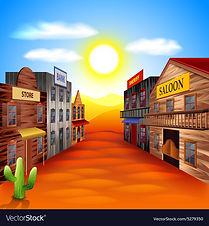 wild-west-town-background-vector-5279350