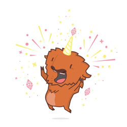 Excited Bufficorn