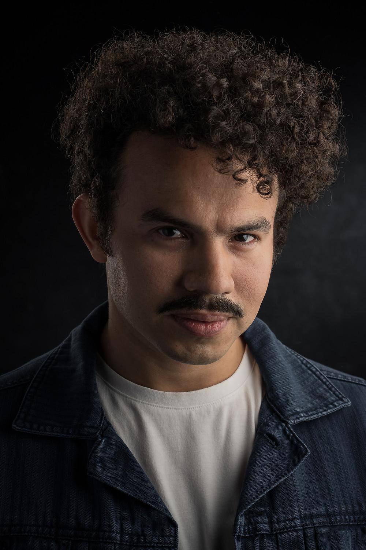 A portrait of Sydney based actor Eduardo Mora