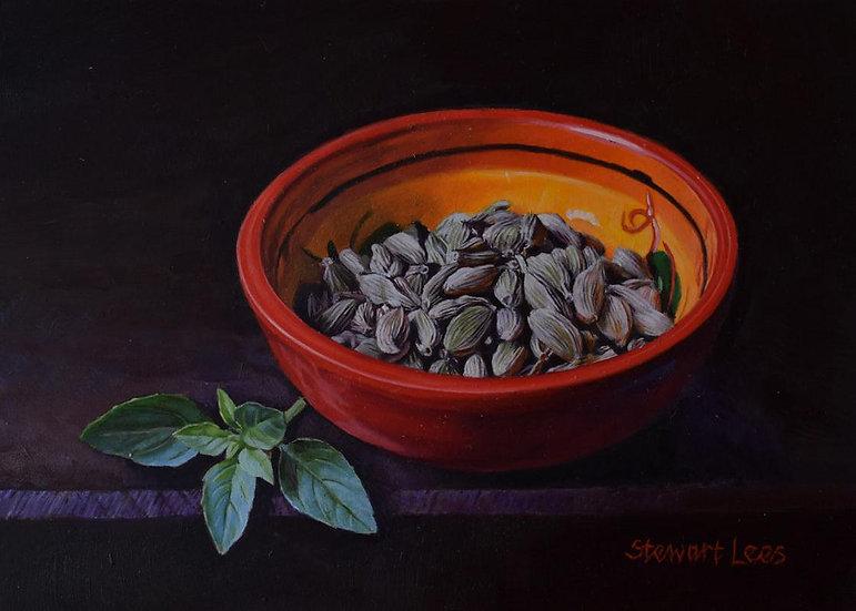 Cardamom Pods in a Bowl