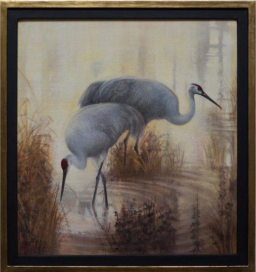 Morning Cranes II