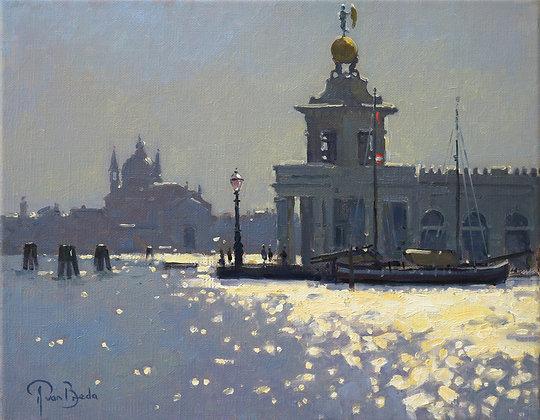 PETER VAN BREDA | Evening Light, Punta della Dogona, Venice
