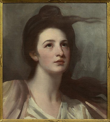 GEORGE ROMNEY | Portrait of a Lady (Elizabeth Warren), Painted circa 1775