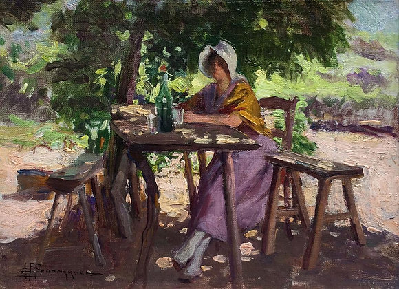 ALEXANDRE FRANCOIS BONNARDEL | Young Woman Resting in the Shade