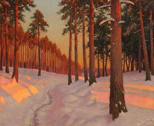 MICHAIL MARKIANOVITCH GERMASEV | Winter Evening