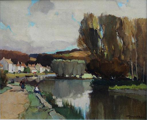 GEORGES CHARLES ROBIN | L'Yonne à Mailly-la-Ville