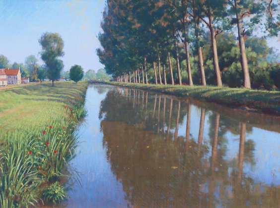 LIONEL AGGETT | Reflections, Canal du Berry