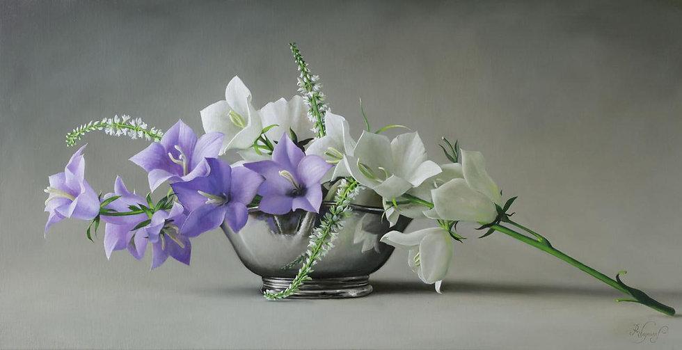 White and Blue Campanula