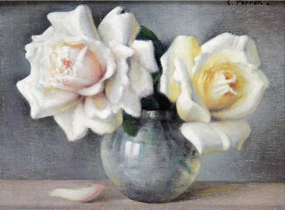 CHARLES PERRON | Vase de Roses