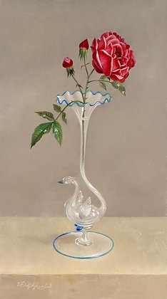 WILLEM DOLPHYN | A Rose in a Venetian Glass