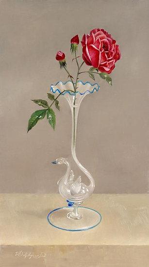 A Rose in a Venetian Glass