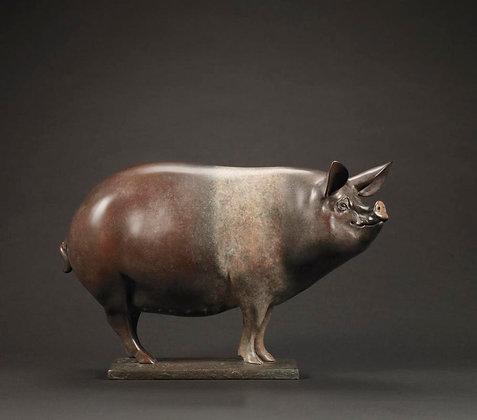 NICK BIBBY | Saddleback Pig (Happy Sow)