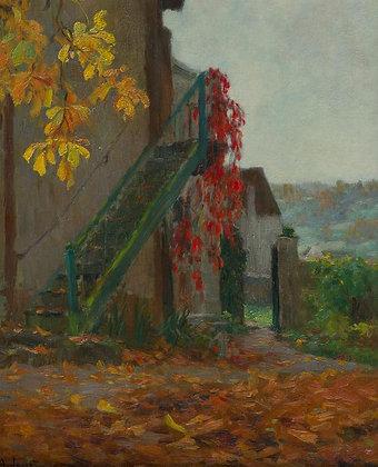 ALEXANDRE LOUIS JACOB | Escalier de Jardin a L'automne