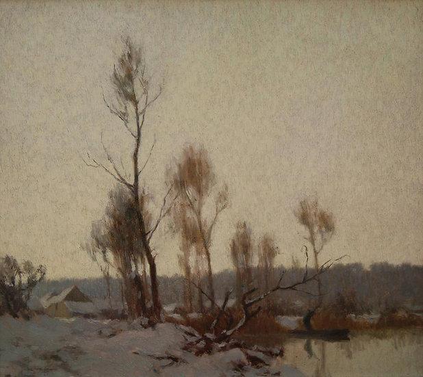 Neige au Marais (Environs d'Amiens)