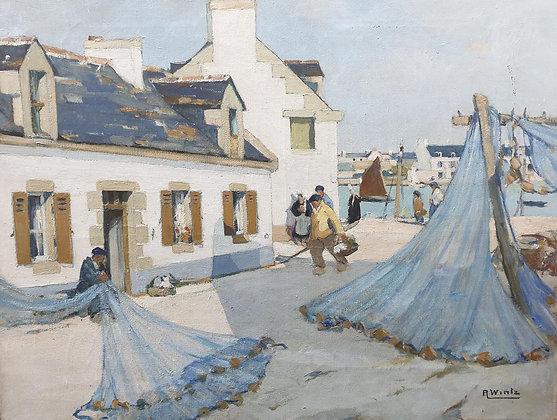 RAYMOND WINTZ   Les Filets Bleus à Concarneau