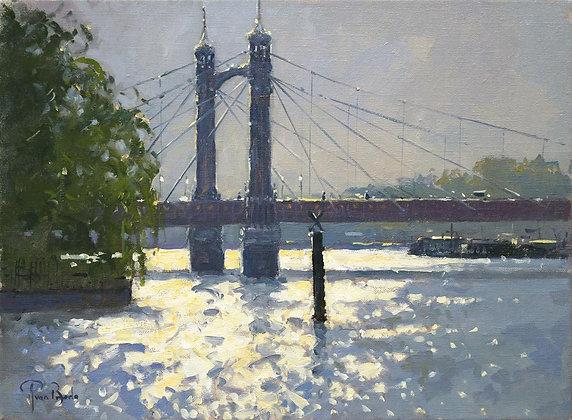 PETER VAN BREDA | Evening Light, Albert Bridge, London