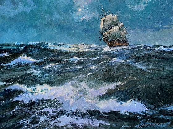 RONNY MOORTGAT | USS Ranger Battling Through the Seas