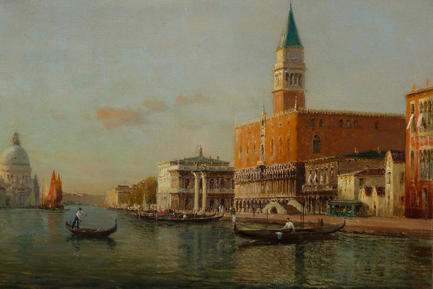 AUGUSTE BOUVARD | The Grand Canal and the Doges Palace, Venice
