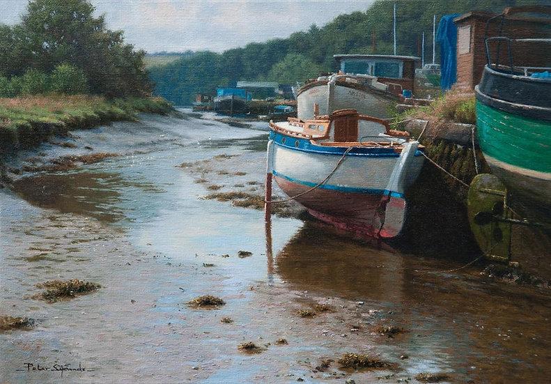 Boatyard at Gweek, Helford River, Cornwall
