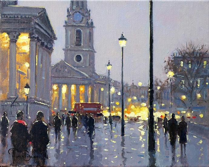 Evening Lights, St Martin-in-the-Fields, London