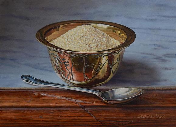 STEWART LEES | Cane Sugar in a Brass Bowl