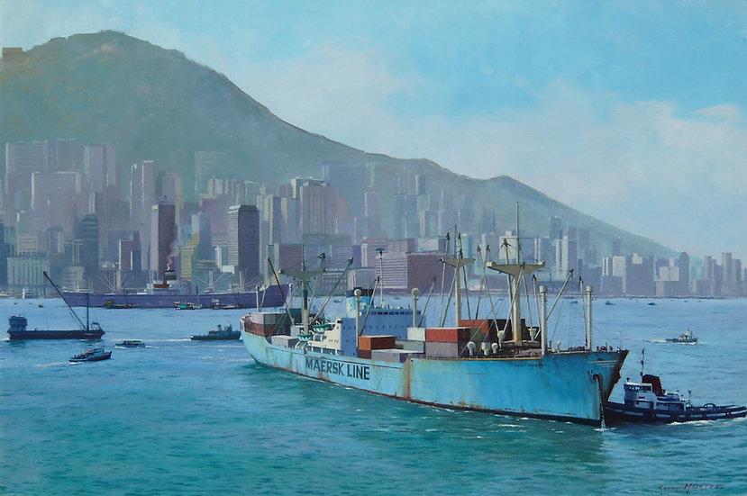 Sally Maersk in Hong Kong