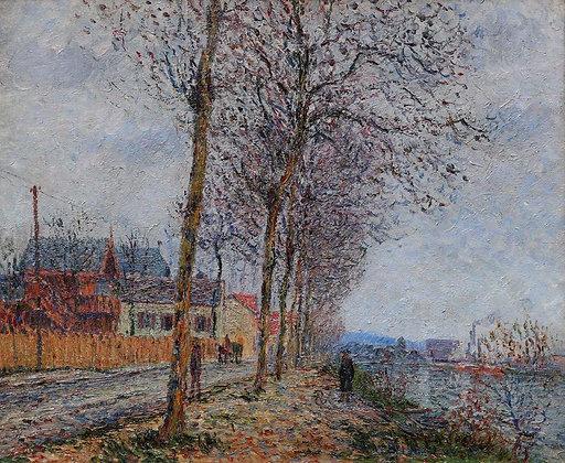 GUSTAVE LOISEAU | Le Quai du Pothuis, Pontoise, Painted in 1900