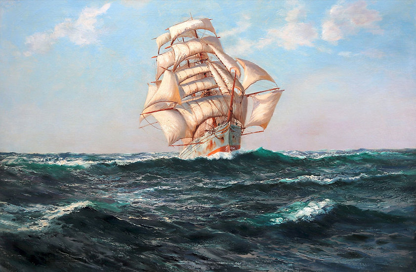 The White Barque under Full Sail